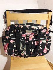 Handtasche Shopper Reisetasche schwarz-bunt - neu