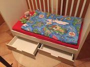 Babybett weiß mit Schubladen gebraucht