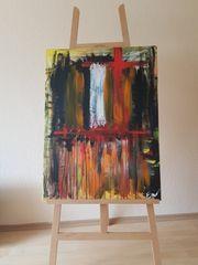Abstrakt Acrylbild