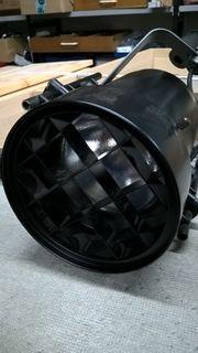 Stromschiene Erco mit Studiostrahlern schwarz