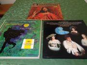3 alte Klassik-Schallplatten-Boxen