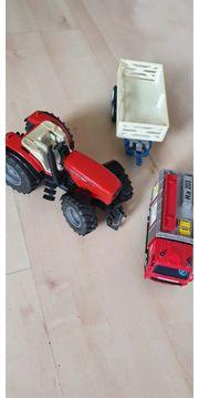 Spielzeug Bulldog Feuerwehr Anhänger
