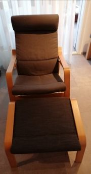 Ikea Schaukelstuhl mit Hocker