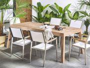 Gartentisch zertifiziertes Holz braun 210