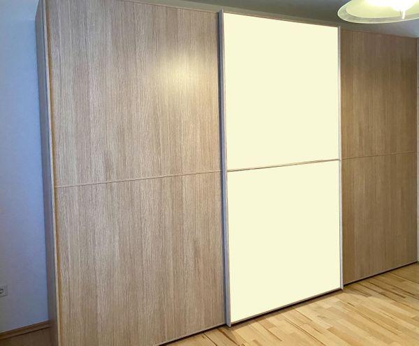 Schwebetür Kleiderschrank mit Spiegel - 3-türig