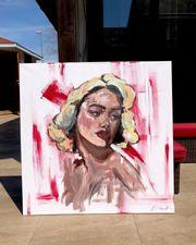 Blonde Frau Gemälde aus Acryl