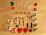 Küchenutensilien Kaffeetasse Glaskrug Cocktail-Shaker Eierbecher