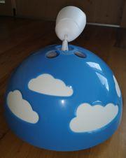Deckenlampe blau mit Wolken