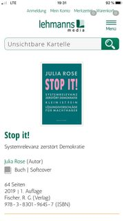 Politbuch Stop It von Julia