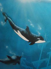 Wandbild Unterwasserwelt Alu-Rahmen