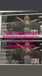 2 Celine Dion Tickets Mannheim
