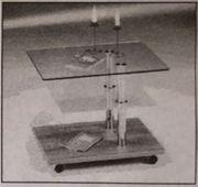 Glastisch Couchtisch 600x450mm 450x350mm