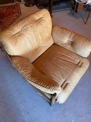 Leder Sofa und Sessel zu