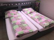 Doppelbett grau 180x200 plus Roste