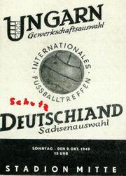 Dynamo Dresden Sachsenauswahl Deutschland -Ungarn