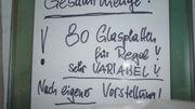 80 Glasplatten für variables Glasregal