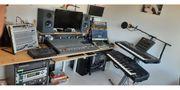 Analoges Musikstudio ohne Computer aus