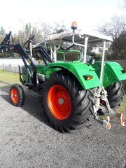 DEUTZ Traktor 7506 mit Frontlader