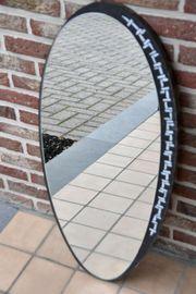 Spiegel oval Handarbeit H 83cm