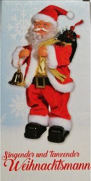 Singender tanzender Weihnachtsmann