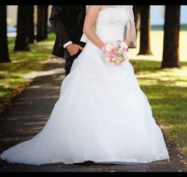 Hochzeitskleid Gr 34-38 Rückenschnürung