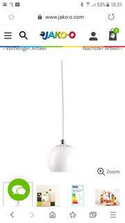 Deckenlampe Kugel weiß