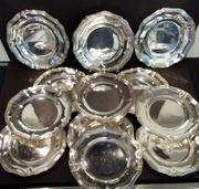 Antike Platzteller Teller Silber 950er