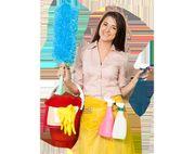 Eine erfahrene Putzfrau sucht eine