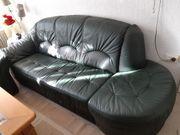 Ledercouch dunkelgrün Sofa