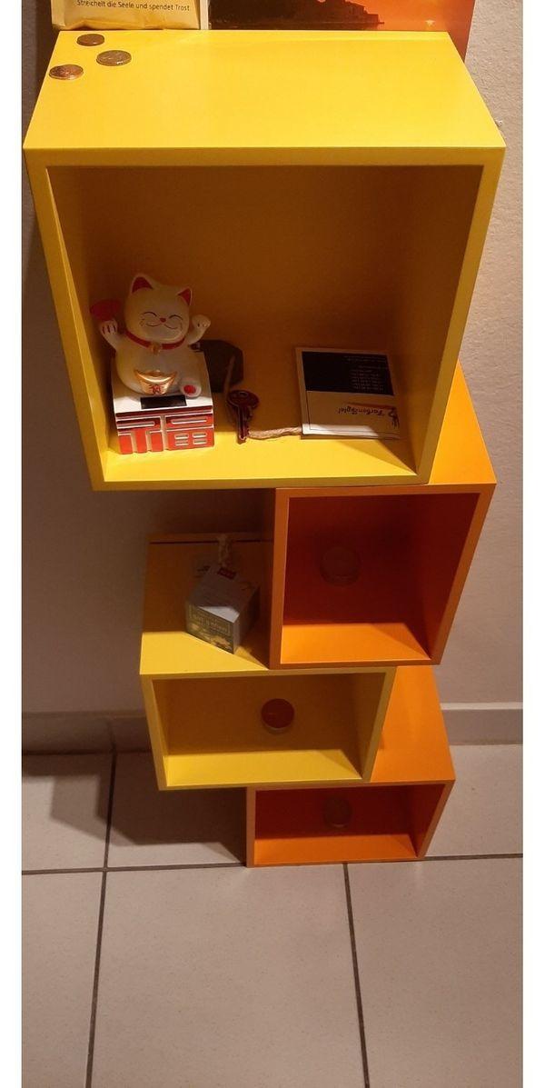 Bücher CD Regal von Cubit in orange und gelb in München