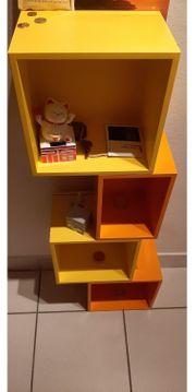 Bücher-CD-Regal von Cubit in orange