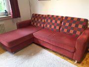 Schlafsofa Couch mit Ottomane Stauraum