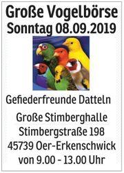 Große Vogelbörse in 45739 Oer-Erkenschwick
