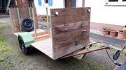Einachser Anhänger für Brennholztransport