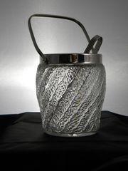 Vintage Eiswürfel-Behälter Bleikristall mit Henkel