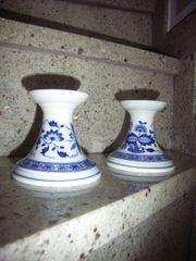 Hutschenreuther Zwiebelmuster 2 Kerzenständer