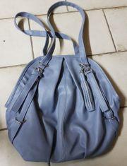 2 Handtaschen grau und bordeaux
