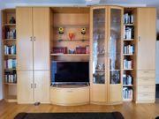 hochwertige Schrankwand Ahorn hell Wohnzimmer