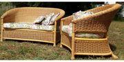 schöne Sitzmöbel aus echtem Rattan