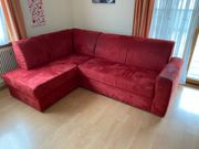 Couch ausziehbar plus Sessel