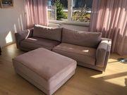 Sofa Couch mit Hocker