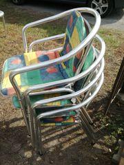 Gartenstühle 4 Stück mit Polster