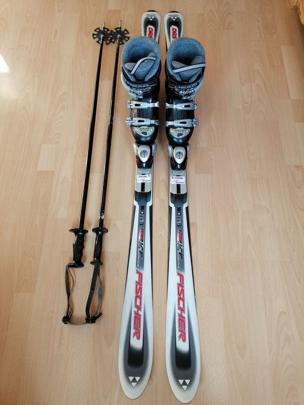Damen Skiset - München Schwabing-freimann - Fisher Ski Carving 158cm mit Stöcke und Schuhe - Head Gr. 37-38sehr gut erhalten60 EUR - München Schwabing-freimann