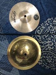 Schlagzeug Becken Splash und Bell
