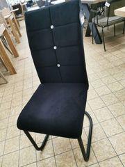 Stuhl Picafort Samtstoff schwarz