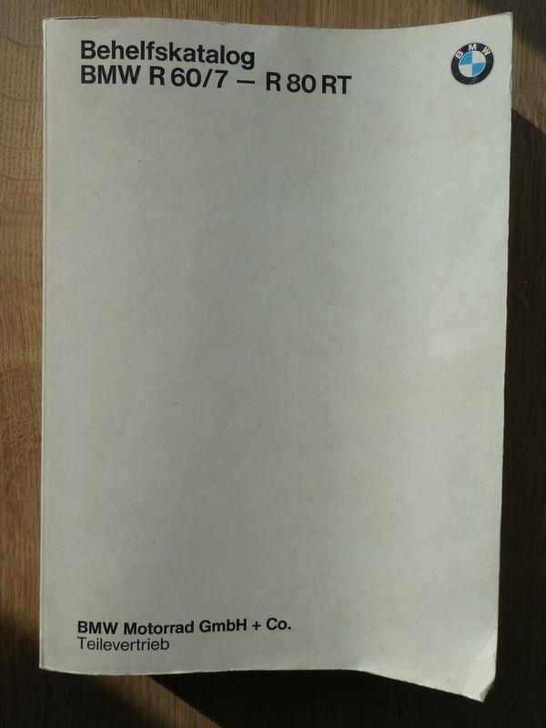 Befehlskatalog Ersatzteilkatalog BMW R60 7 -