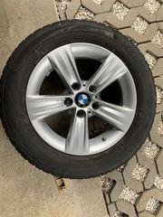 4x BMW-Alufelgen mit Drucküberwachung Winterreifen
