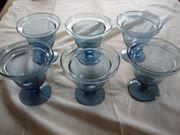 6 Eis-Schalen und Dessertschalen Glasschalen
