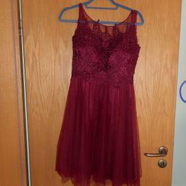 Festliche Abendbekleidung, Damen und Herren - Ballkleid Abendkleid Cocktailkleid rot Spitze