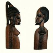 Afrikanisches Paar Holzmasken